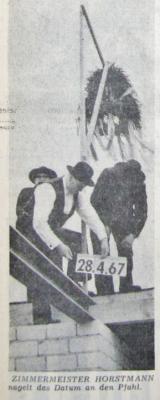 Foto zur Meldung: Vor 50 Jahren: Richtfest für die Realschule Bornhöved
