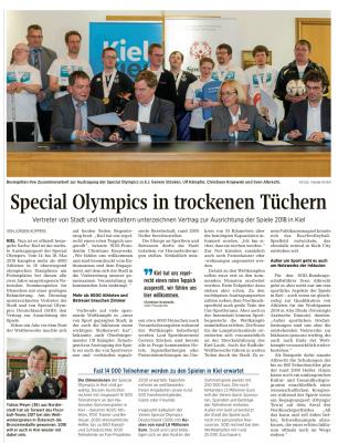 Vorschaubild zur Meldung: Special Olympics 2018 in Kiel