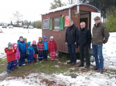 Vorschaubild zur Meldung: Zuwachs im Waldkindergarten