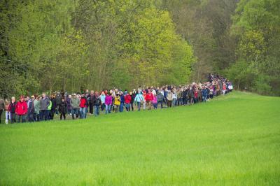 Vorschaubild zur Meldung: Die 24. MAZ-Osterwanderung lockt mehr als 1000 Ausflügler nach Schlenzer