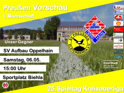 Vorschaubild zur Meldung: +++ 25. Spieltag Kreisoberliga +++
