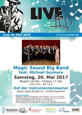 """Vorschaubild zur Meldung: """"Live im Hof"""" - Auftaktveranstaltung mit der Magic Sound Big Band am 20.05.2017"""