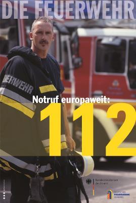 Plakat Notruf 112, Quelle: Deutscher Feuerwehrverband