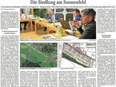 Vorschaubild zur Meldung: Neues Baugebiet: Am Sonnenfeld