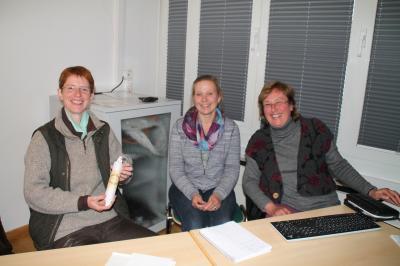 Von links: Referentin Marion Buley, Umweltberaterin Freia Klinkert-Reuschling und LPV-Geschäftsführerin Barbara Fiselius.