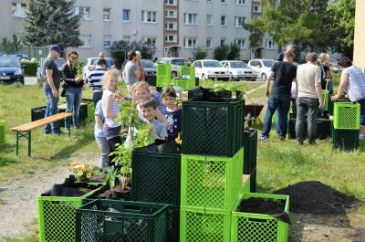 Die Kinder waren Feuer und Flamme für den Gemeinschaftsgarten.