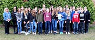 Klasse 8-2 des Gottfried-Arnold-Gymnasiums (Quelle: GAG Times)