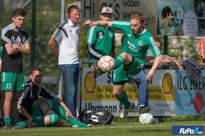 War nur selten zu stoppen: Oberpollings Joker Michael Kurz half mit einer Vorlage zum wichtigen Erfolg gegen den FC Schalding bei. Foto: Hönl/FuPa