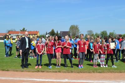 Foto zur Meldung: 11.05.2017 Jugend trainiert - Leichtathletik WK IV in Lübbenau