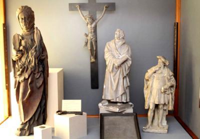 Heilige Anna, Martin Luther und Herzog Georg (Fotos: Stadt Annaberg-Buchholz, Matthias Förster)