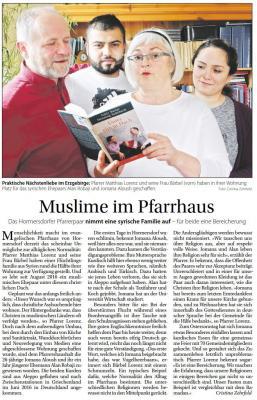 Vorschaubild zur Meldung: Muslime im Pfarrhaus
