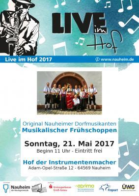 Vorschaubild zur Meldung: Live im Hof: Original Nauheimer Dorfmusikanten - Musikalischer Frühschoppen