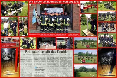 Foto zur Meldung: Riesen Jubel über doppelten Erfolg beim Amtsfeuerwehrtag in Postfeld