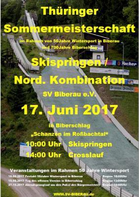 Vorschaubild zur Meldung: Bilder, Bericht und Ergebnisse Thüringer Sommermeisterschaft Skisprung und Nordische Kombination 17.06.2017
