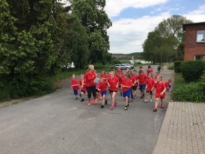 Foto zur Meldung: Training der Laufgruppe