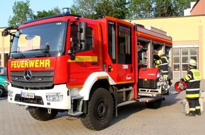 Vorschaubild zur Meldung: Freiwillige Feuerwehr Rosenheim erhält neues Löschfahrzeug vom Bund