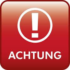 Foto zu Meldung: Achtung, ÄNDERUNG!!!