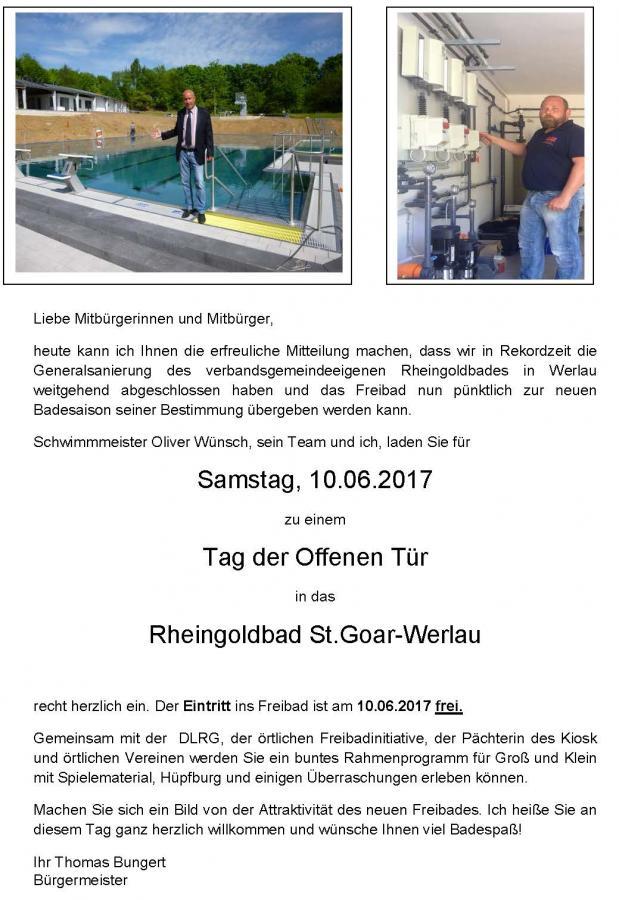 Tag der offenen tür heute  Verbandsgemeindeverwaltung St. Goar-Oberwesel - Einladung zum Tag ...
