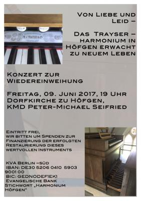 Vorschaubild zur Meldung: Von Liebe und Leid – das Trayser Harmonium in Höfgen erwacht zu neuem Leben