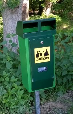 Foto zu Meldung: Zwei neue Hundetoiletten am Schwarzbach - Gemeinde, Bürger und Hundehalter gemeinsam für ein sauberes Nauheim