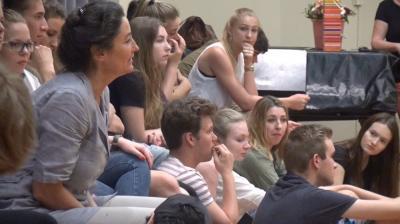 Foto zur Meldung: Workshop im Theater im Rahmen von DSp