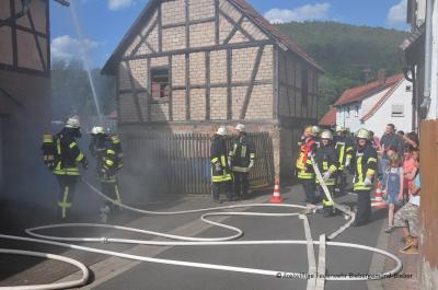 Schauübung zum Tag der offenen Tür der FF Roßbach
