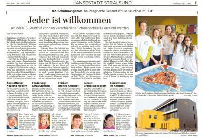 Foto zur Meldung: OZ-Schulnavigator: Die Integrierte Gesamtschule Grünthal im Test