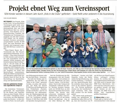 Foto zu Meldung: Kids in die Clubs / Projet ebnet Weg zum Vereinssport