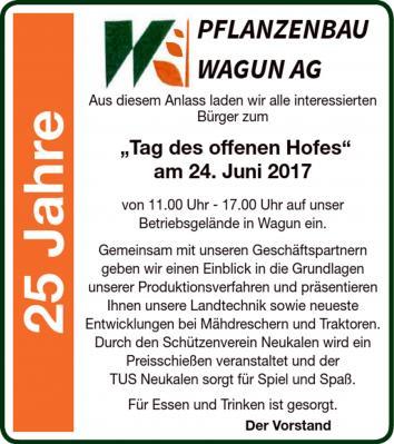 Foto zur Meldung: 25 Jahre Pflanzenbau Wagun AG