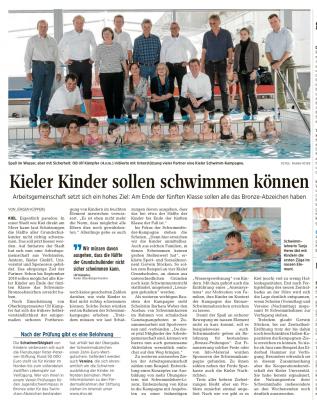 Peter Petersen Stiftung spendet 50.000,00 € für Schwimmkurse