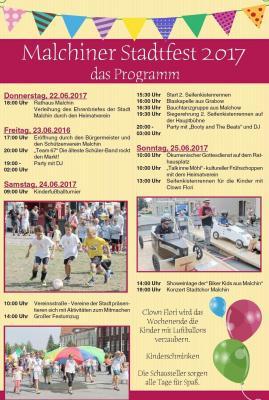 Foto zur Meldung: Malchiner Stadtfest 2017