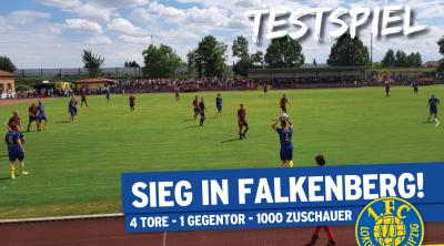 Foto zur Meldung: Lok Leipzig gewinnt in Falkenberg mit 4 : 1