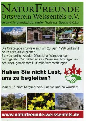 Foto zur Meldung: NaturFreunde Ortsverein Weißenfels e.V. informieren