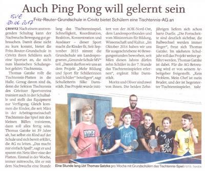Foto zur Meldung: Auch Ping Pong will erlernt sein