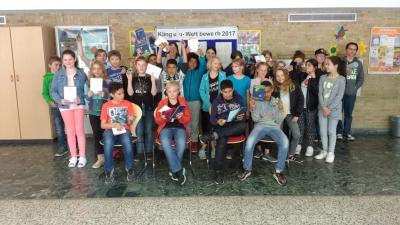 Foto zur Meldung: Ehrung der Teilnehmer am Känguru-Wettbewerb (Mathe)