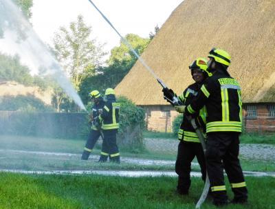 Foto zur Meldung: Großschadenslage auf Gut Perdöl - Nachbericht der Feuerwehr