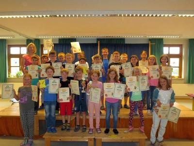 Foto zur Meldung: Das lesende Schulhaus – Siegerehrung in der Grundschule