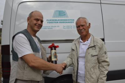 Foto zu Meldung: Fliesenlegermeister Torsten Burghardt feiert Jubiläum