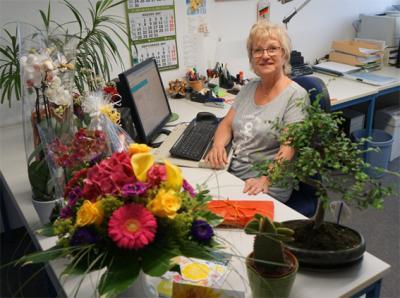 Foto zur Meldung: Frau Jakob in den Ruhestand verabschiedet