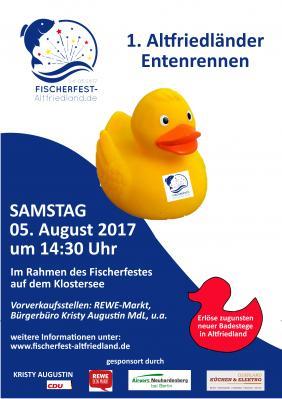 Vorschaubild zur Meldung: 1. Altfriedländer Entenrennen