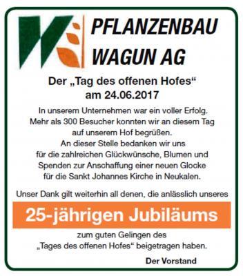 "Foto zu Meldung: Pflanzenbau Wagun AG sagt ""Danke"""