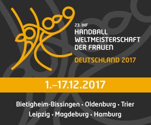 """Vorschaubild zur Meldung: Einladung zum """"Kids' Day"""" (05. bzw. 08.12.) bei der IHF Handball Weltmeisterschaft der Frauen"""