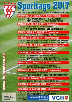 Foto zur Meldung: Sporttage 2017 des FC Hevesen
