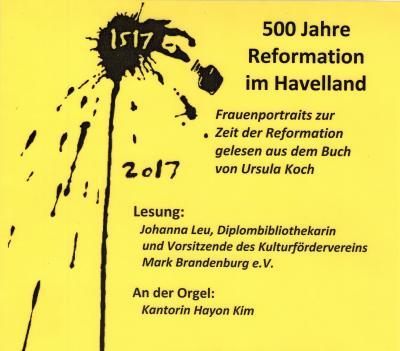 Foto zu Meldung: Lesung zum Reformationsjahr