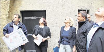 Foto zur Meldung: Ortsgemeinde: Ende der Burgsanierung ist in Reichweite