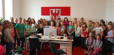 Foto zur Meldung: Besuch im Landtag