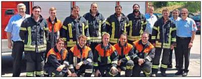 Vorschaubild zur Meldung: Abzeichen für die Feuerwehrkameraden