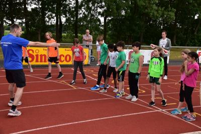 Gleich kommt der Startschuss für den 800m-Lauf
