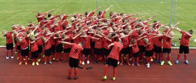Foto zur Meldung: 10. Fußballcamp des ESV Lok Falkenberg - Tag 2