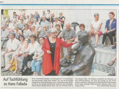 Foto zur Meldung: Neuenhagen ganz im Zeichen Falladas 124. Geburtstags